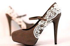 so cute. #lace #heels