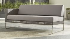"Dune Left Arm Loveseat with Cushions | Crate and Barrel 65"" wide"