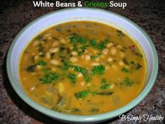 White Beans & Greens Soup. Perfect Passover or Easter Soup Recipe!