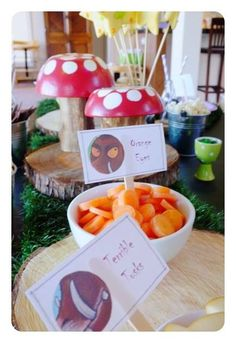 Gruffalo party Gruffalo Party, Party Themes, Birthday Parties, Table Decorations, Home Decor, Birthday Celebrations, Homemade Home Decor, Anniversary Parties, Interior Design