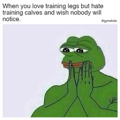 When you love training legs but hate training calves And wish nobody will notice. More motivation: https://www.gymaholic.co #fitness #motivation #gymaholic