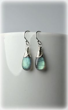 Excited to share the latest addition to my shop: Labradorite Earrings 925 Sterling Silver Green Blue Gemstone Earrings Wire Wrapped Small Dangle Earrings Drop earrings Unique Gift For Women #etsyhandmade #labradorite #jewelry #etsyjewelry #earrings #dangles #gemstones #wirewrapped #weddingjewelry #fashion