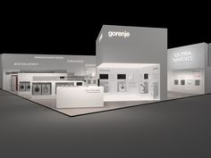 """Gorenje at the 2011 IFA Fair. """"Ultra White,"""" presumably taking a cue from their unique UltraWHITE program for delicate whites, was their theme."""