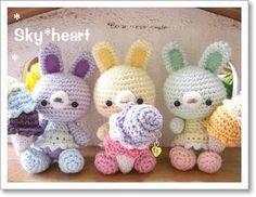 conejitas amigurumias pagina japonesa