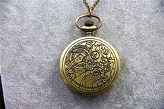 We love this piece. It's a beautiful pocket watch style necklace. The etching on the front and back is worth the price. Works as a true time piece.