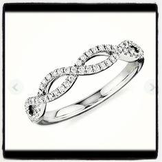 Diamond infinity ring. Bluenile.com