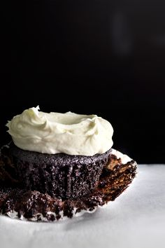 Sea Salt Buttercream Chocolate Cupcake