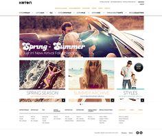 KOTON // Corporate web site'11, Freelance by osmanakbay , via Behance