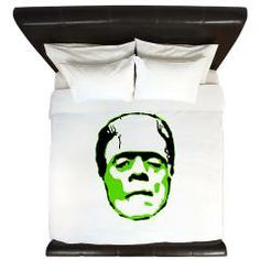 Frank King Duvet> Monster> Slick & His Ruin -   Frankenstein, Bride, Bride of Frankenstein, Frankenstein's Monster, Tattoo, Zombie, Pin, Up, Pin Up, PinUp, Pin-Up, Horror, Halloween, Punk, Rockabilly, undead, monster, kustom, psychobilly, Old School, Old, School, Punk Rock, Greaser, Rock, RockNRoll, Rock N Roll, Rock and Roll,