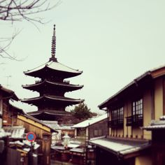Kyoto with snow