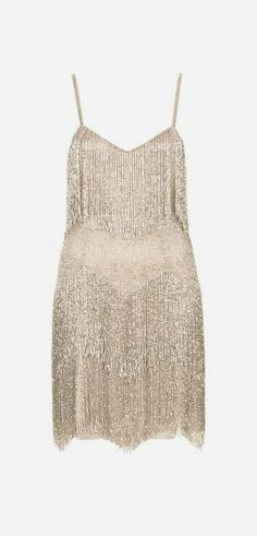Beaded fringed tiered dress, Kate Moss for Topshop