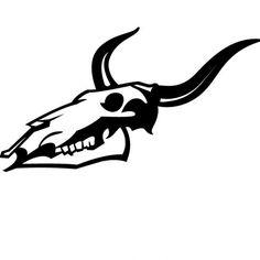 Skull of animal head vector illustration
