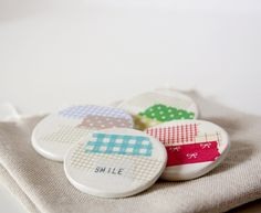 masking tape brooches