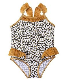 29a810fd2d Wippette White Cheetah One-Piece - Infant & Toddler