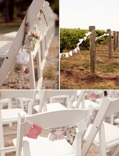 Simple and sweet ceremony decor.