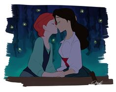 Ariel and Eric Genderswap by *Hiesel on pixiv