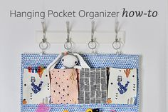 Hanging Pocket Organizer How-To