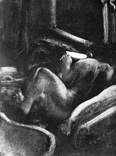 Edgar Degas, 'Woman Reading (Liseuse)', ca. Degas Drawings, National Gallery Of Art, Art Gallery, Edgar Degas, Woman Reading, Expositions, Museum Of Modern Art, Life Drawing, Art Studios