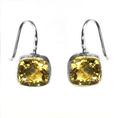 Natural Citrine Sterling Silver Earring