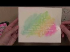 Quick blended watercolor backgrounds with Jennifer McGuire.  Spray watercolor paper with water first.  Use broad water brush to pick up distress inks from craft sheet.  You can also mist the distress inks with water, depending on how saturated you want the color to be.