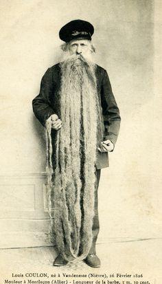 1826 pix of old bearded seaman.....RPPC (real photo postcard)
