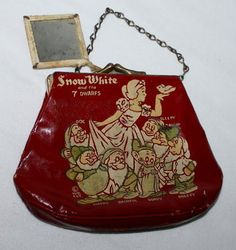 1930's children's Snow White toy purse w/ mirror.