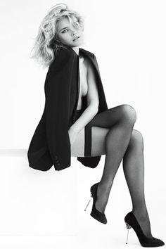 classic look, great pose -- Natalia Vodianova in Stuart Weitzman's Fall Ads - Stuart Weitzman Fall 2012 - ELLE