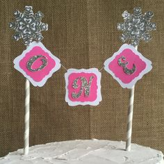 Winter Onederland cake topper onederland cake topper by FalcoClan