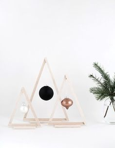 Mini Wood Christmas Trees - Homey Oh My! - Add to your modern decor.