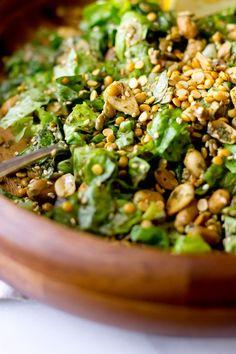 Burmese Tea Leaf Salad - THE GOURMET GOURMAND - to make it veg, I swap Liquid Aminos for fish sauce.