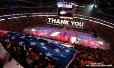 Awesome picture at Consol Energy Center in Pittsburgh, Pa (The Burgh) Memorial Day 2016