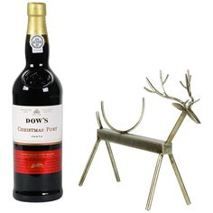Buy Reindeer Wine Stand And Dow's Christmas Port Gift Set | John Lewis