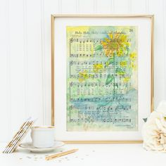 Holy Holy Holy Lord God Almighty  Hymn  Watercolor by NearToHymn