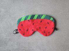 Handmade Watermelon Sleep Mask by Maxxface on Etsy