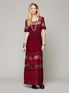 OMG! Freaking Love Free People!!!!! Free People Mix In The Crochet Dress, $198.00