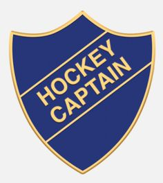 'Hockey Captain' shield badge with enamel infill, gold plated words and a superior Ballou clutch fixing. Various colours are available. *colours may vary slightly in shade due to differing monitor colours and manufacturing processes Size Porsche Logo, Badges, Monitor, Hockey, Enamel, Football, Colours, Words, Shop