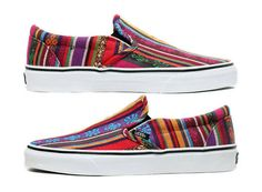 8827414f2d shoes aztec vans print colorful slip on slip on shoes slip ons cool girly  adorable colors color stripes pattern aztec shoes hipster hippie boho
