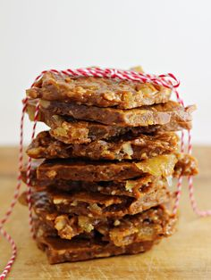 tropical toffee brittle with dried pineapple,coconut, and macadamia nuts