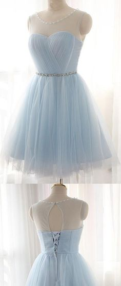 Short Prom Dresses, Blue Prom Dresses, Lace Prom Dresses, Prom Dresses Short, Light Blue Prom Dresses, Prom Dresses Blue, Homecoming Dresses Short, A Line Prom Dresses, Prom dresses Sale, Blue Short Prom Dresses, A Line dresses, Light Blue dresses, Short Homecoming Dresses, Lace Up Prom Dresses, Bandage Party Dresses, Round Party Dresses, A-line/Princess Party Dresses
