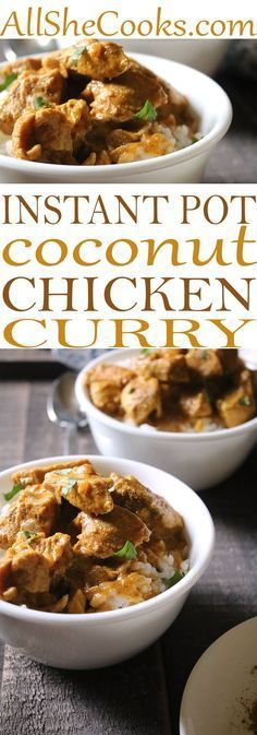 Easy Indian Chicken Curry recipe. If you love chicken curry, you will absolutely LOVE this Chicken Curry is SO good you'll want to make a little extra for leftovers for lunch. #curry #chickenrecipes #indianfood #instantpot