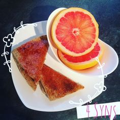Brekky!! Jam on toast (2 Syns per TBSP) and a juicy Grapefruit  this is my #WIDN @stevieboy_sw77  what's everyone else doing @operationskinnyminnie_sw @this_time_im_doing_this @sarah_sw_recipes @mikeynolan88_sw @fitness_peet  #slimmingworld #slimmingworldbreakfast #grapefruitideas #grapefruit #loosefat #weightlossjourney #weightwatchers #followme #recipes #slimmingworldrecipes #lowcarbfood #lowcarb #healthyfood #diet #healthy #keto #slimmingworldfriends #bodygoals #lowcarbhighfat #detox…