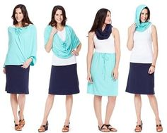 """Endless ways to get easy and chic protection from the elements: UV rays, wind, hot sun, cool AC, you name it. Small and light enough to throw in your bag and you're set for the day. Details - Drawstring to adjust styles and sizing - Infinity scarf, shoulder wrap, skirt, hood, halter top, etc. - UPF 50+ Excellent Sun Protection, 98% UV rays blocked - One size fits most - Made in USA with imported fabric Fabric - Our irresistibly soft """"Willow"""" blend - 4-way stretch for comfort an..."""
