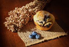 Sorghum Blueberry-Lemon Muffins ground flax instead of xanthan gum Gluten Free Baking, Gluten Free Recipes, Baking Recipes, Snack Recipes, Snacks, Gluten Free Blueberry Muffins, Lemon Muffins, Blue Berry Muffins, Plant Paradox Diet