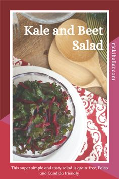 This Kale and Beet Salad is super simple and oh-so-tasty. When you're looking for a salad that's incredibly quick to prepare, bursting with superfood goodness and beautiful to boot–this is your recipe. In fact, you'll want to make it in any case, simply because it's delicious. #grainfree #Paleo #candida @rickiheller Heart Healthy Recipes, Raw Food Recipes, Anti Candida Diet, Candida Recipes, Beet Salad, Green Goddess, Lean Protein, Your Recipe, Super Simple