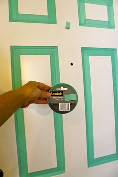 Update Your Front Door... With Masking Tape! a renter-friendly DIY!