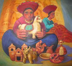 Imágenes Arte Pinturas: PAISAJES INDIGENISTAS DEL PERÚ