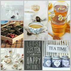 Let's have some tea and talk about happy things. #moodboard #mosaic #collage…