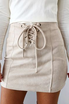 Look Of Love Skirt: Cream