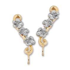 Two Tone Hawaii Plumeria Silver Ear Pin Earrings #earpinearrings #sterlingsilverearpins #earringsthatgoup #pinearrings #earpinsjewelry #earpin #earpin #earspirals #earspirals #slideonearrings #climbtheearearrings #wrapearrings #nonpiercedearrings #earcuffs #personalizedbracelets #earcuffs #cuffearrings #cliponearrings #earspiralsearrings #earspiralearrings