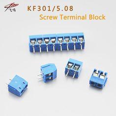 20 CÁI KF301-5.0-2P KF301-3P Pitch 5.0 mét KF301-2P Pin Thẳng PCB 2 Pin 3 Pin Vít Terminal Block Nối